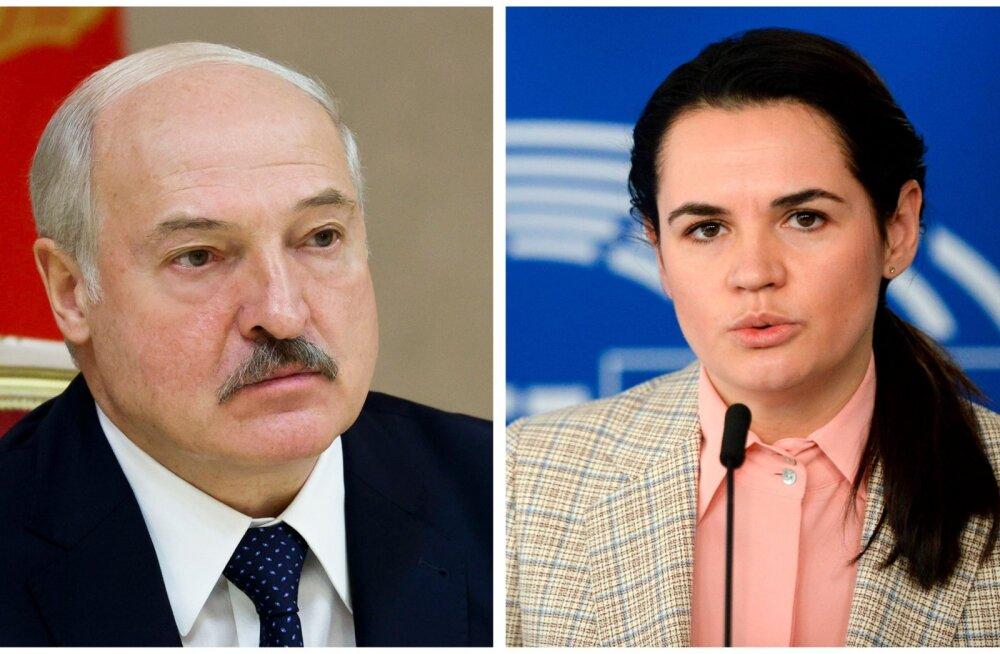 Aljaksandr Lukašenka ja Svjatlana Tsihhanovskaja