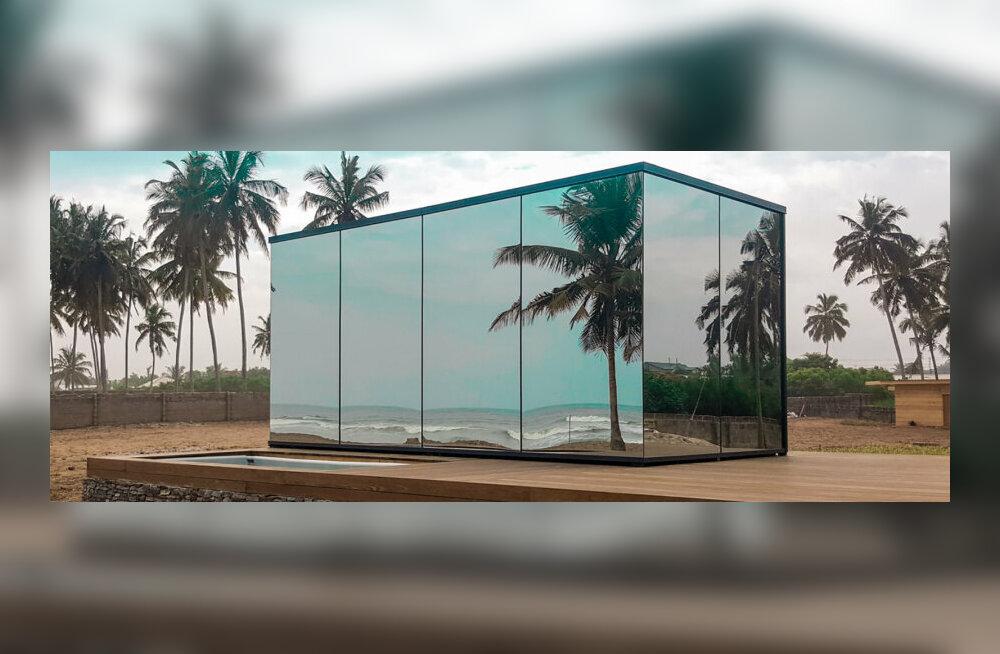Эстонский бизнес в Африке: на курорте в Гане строят гостиничный комплекс из зеркальных домов, привезенных из Тарту