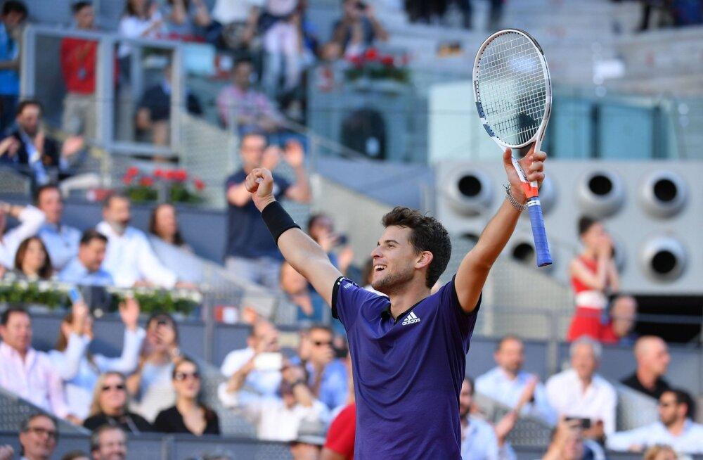 Dominic Thiem lülitas Madridis Roger Federeri konkurentsist
