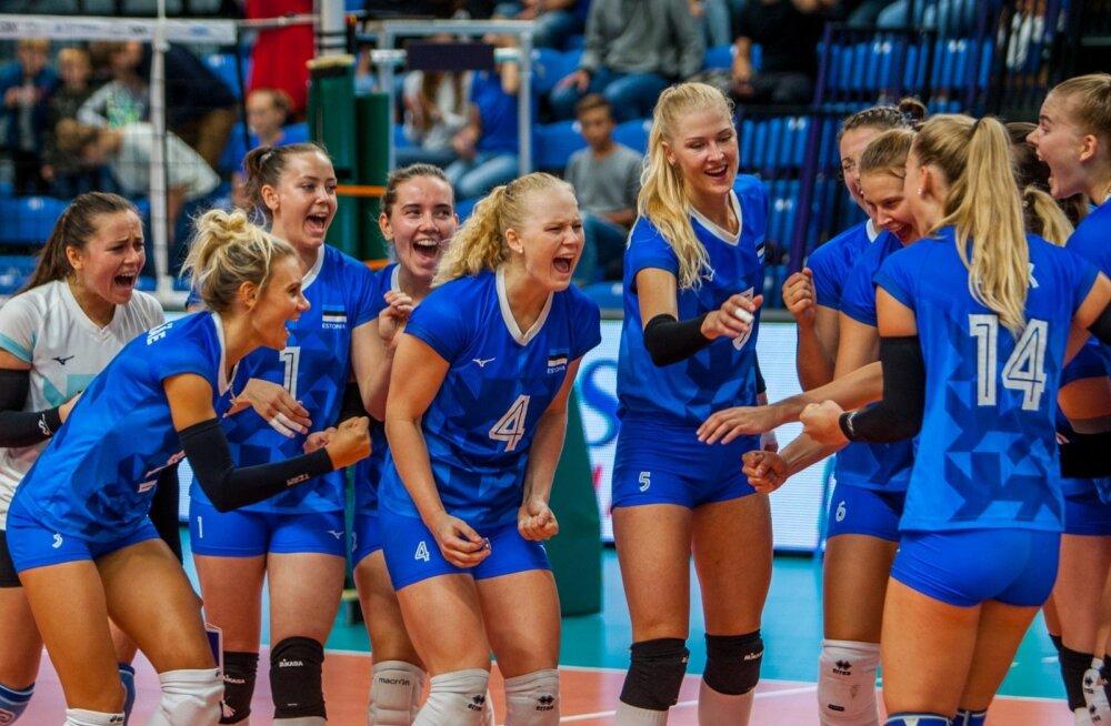 Eesti naiste võrkpallikoondis on suure saavutuse lävel.