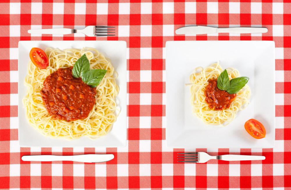 Tahad kaalust alla võtta? On üks hea põhjus, miks peaksid suure taldriku vahetama iga söögikorra ajal väiksema vastu