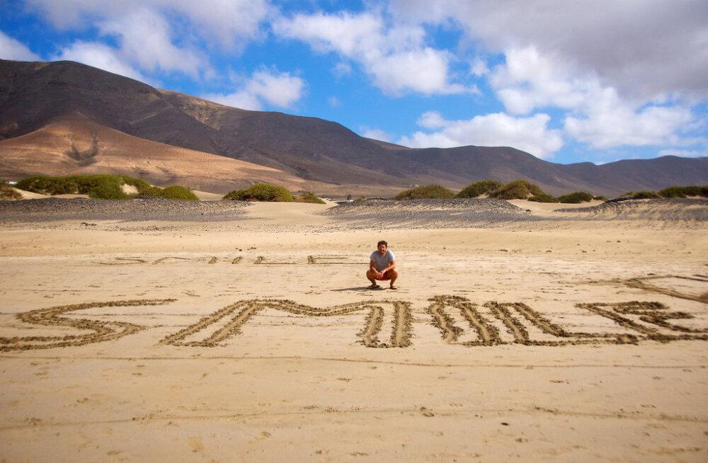 На Канарcких островах запретили рисовать на песке. Нарушителям грозит большой штраф