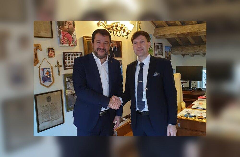Martin Helme kohtus Roomas paremäärmusliku erakonna juhi Matteo Salviniga