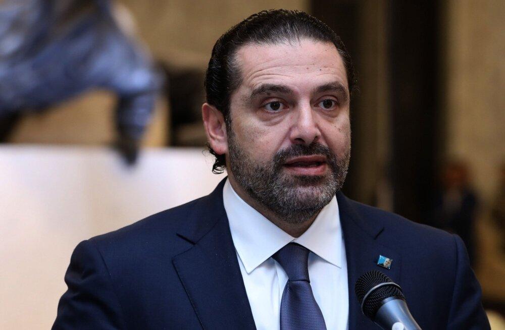 Väidetavalt Saudi Araabias vangis hoitud, aga nüüd kodumaale naasnud Liibanoni peaminister jättis tagasiastumise ootele
