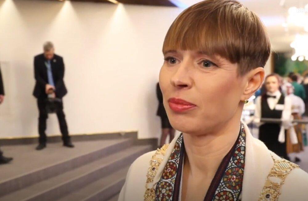 Керсти Кальюлайд выбрала для президентского приема украшения любимого эстонского бренда