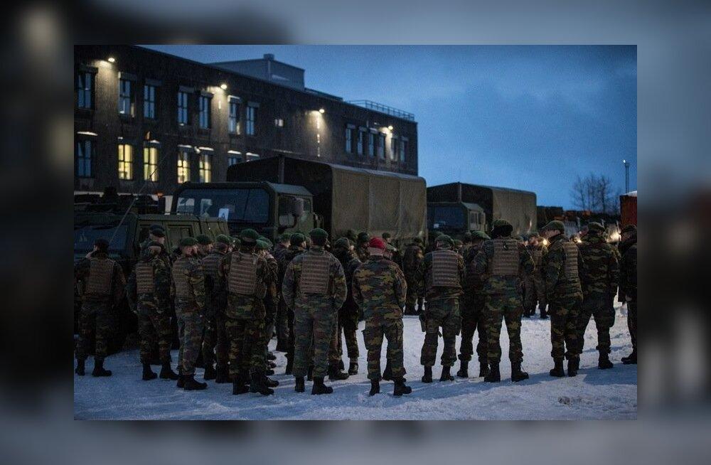 Belgia sõdurite saabumine NATO baasi Tapal