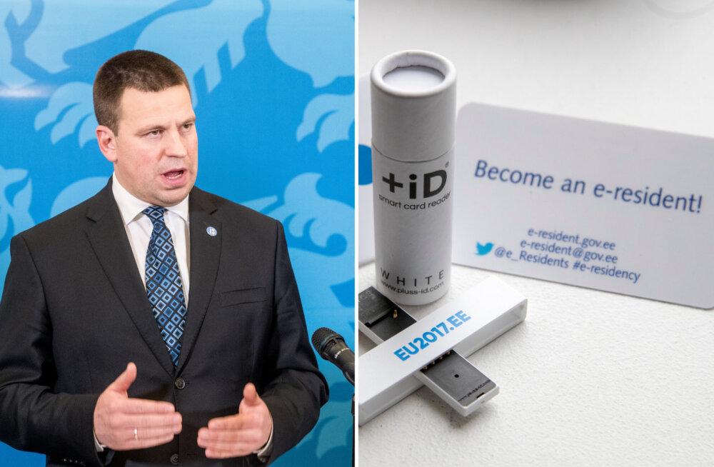 Peaminister Jüri Ratas e-residentsusest: ma ei poolda e-residentsuse lõpetamist