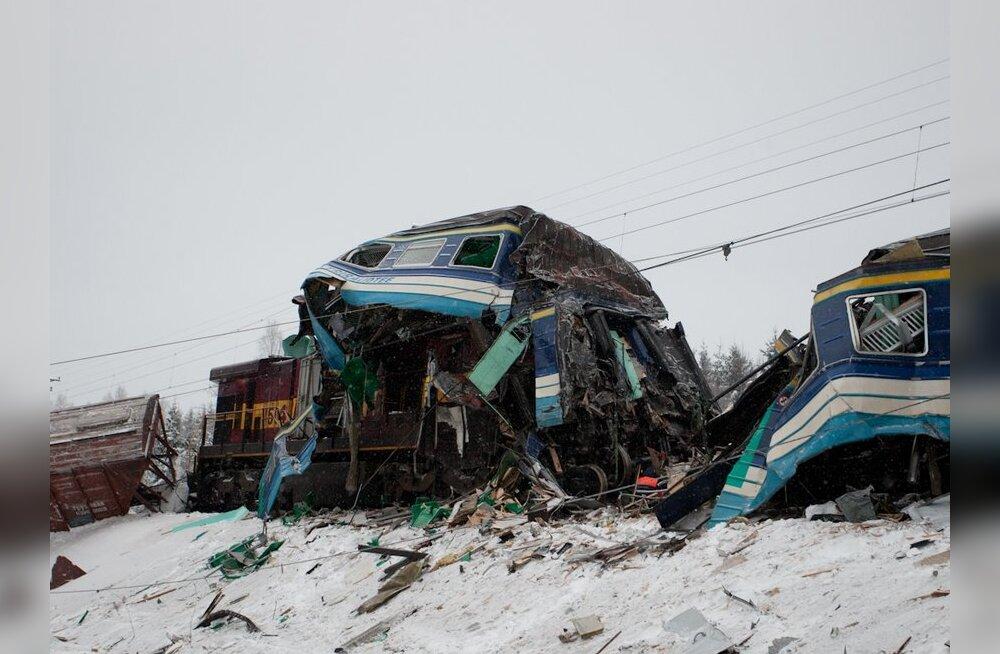 В крушении поездов погиб машинист Elektriraudtee