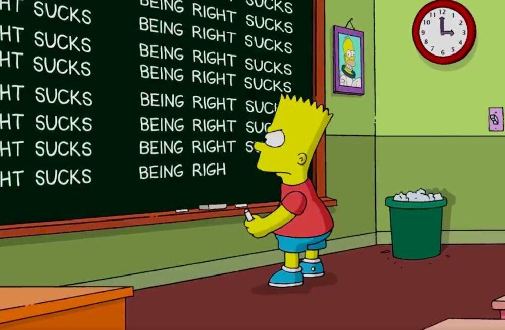"""Bart saab """"Simpsonite"""" 16 aasta taguse Trumpi-ennustuse pärast karistada: VAATA, kuidas sarjategijad multika kaudu meelt avaldavad!"""