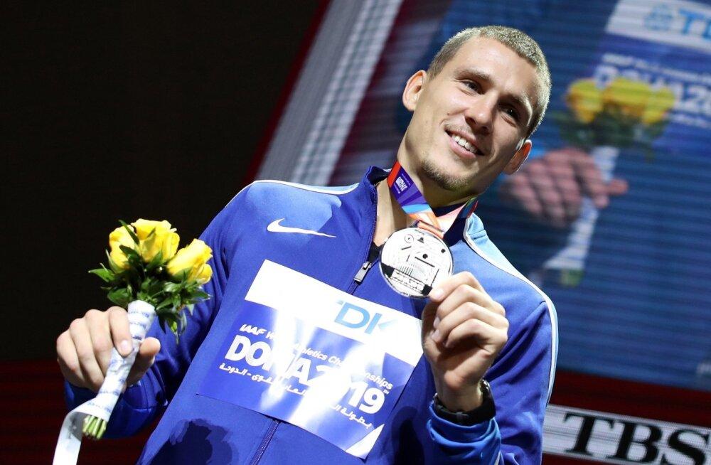Doha MM-hõbe Maicel Uibo võib laialt naeratada - tema nimi on suurte tähtedega kirjutatud Eesti kümnevõistluse ajalukku.