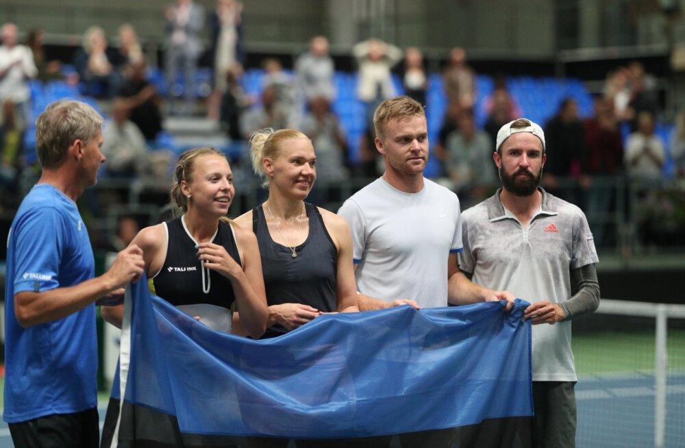 FOTOD JA TIPPHETKED | Eesti alistas tennise maavõistluses Läti, Kanepi ja Kontaveit ei kaotanud ühtegi mängu