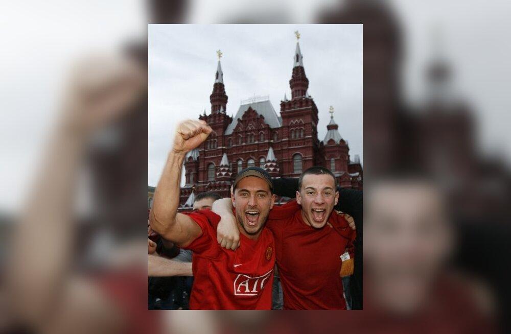 Manchester Unitedi toetajad Moskvas