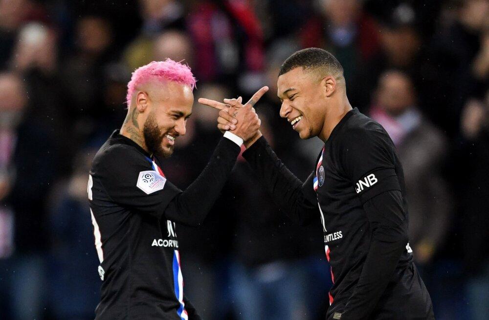 Neymar ja Kylian Mbappe PSG värvides. Sinna jäävad nad tõenäoliselt ka edaspidi.
