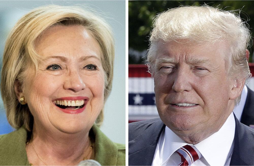 Küsitlused: Clinton suurendab edumaad