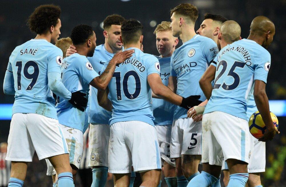 Agüero kübaratrikk viis Manchester City järjekordse võiduni