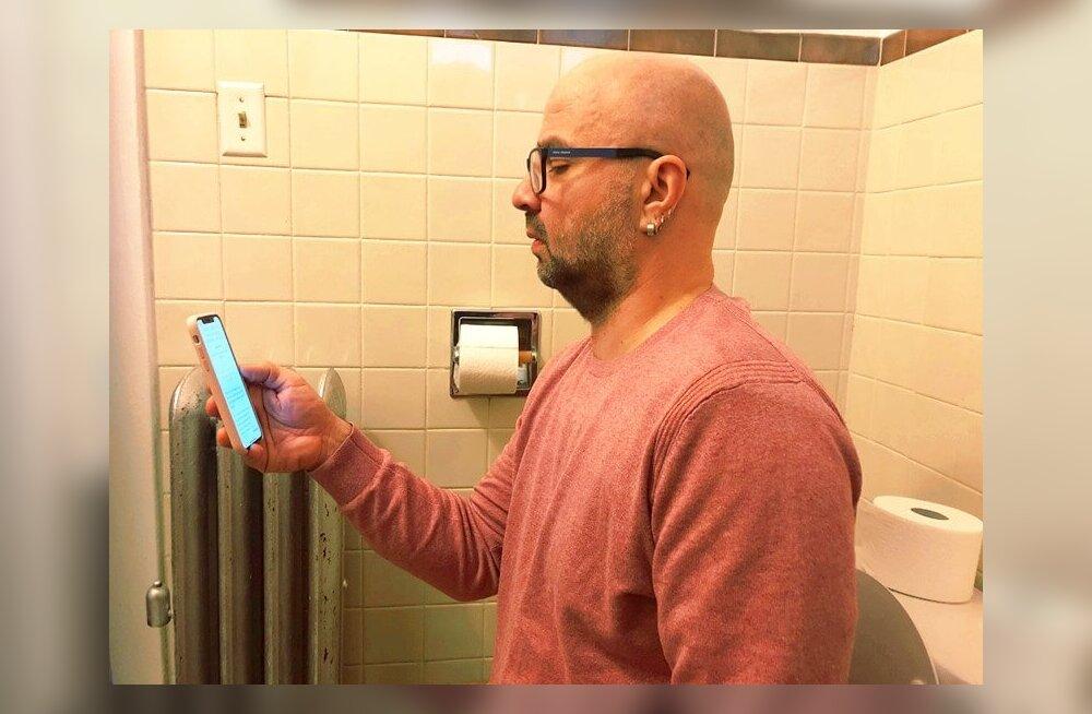 WC-pott ja telefon, kes neid suudaks lahuta!