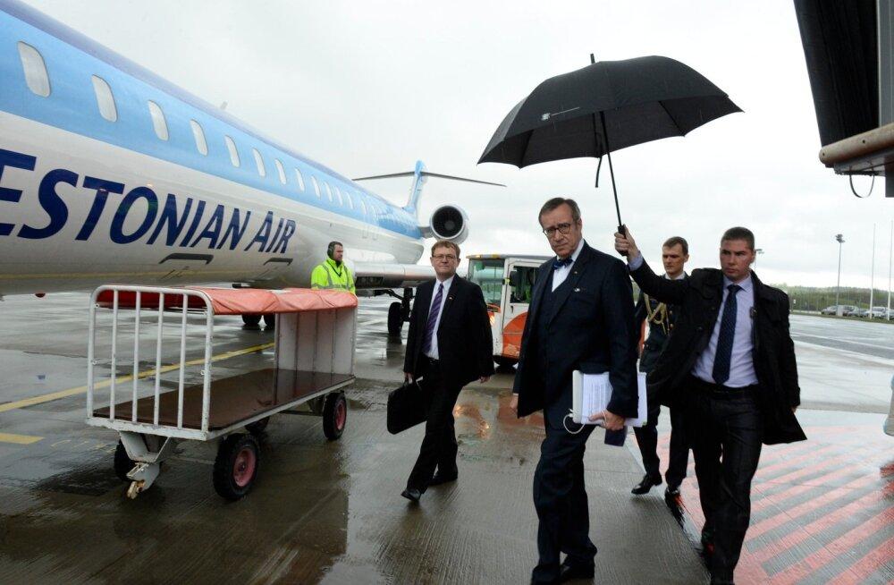 DELFI FOTOD: President Ilves suundub koos 42-liikmelise ettevõtjate delegatsiooniga visiidile Saksamaale