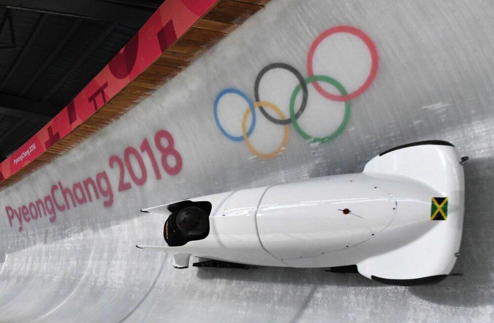 Jamaika bobinaiskond Pyeongchangis.