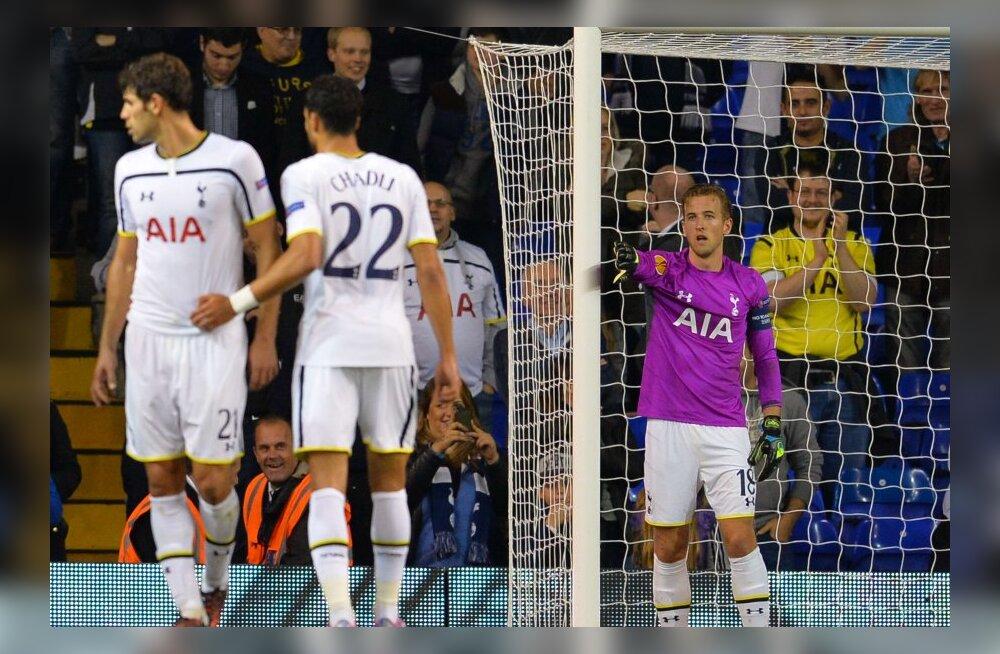 Euroopa liiga: Tottenham avas võiduarve, kübaratriki teinud Kane lõpetas väravas