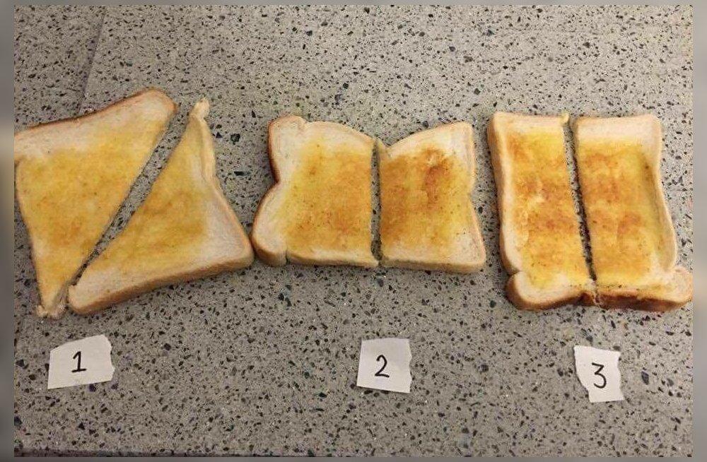 Millist pidi võileiba lõigata?