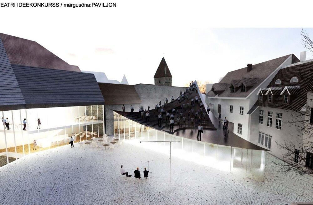Arvatust tunduvalt kallim: Tallinn ootab linnateatri juurdeehituseks riigilt kolme lisamiljonit