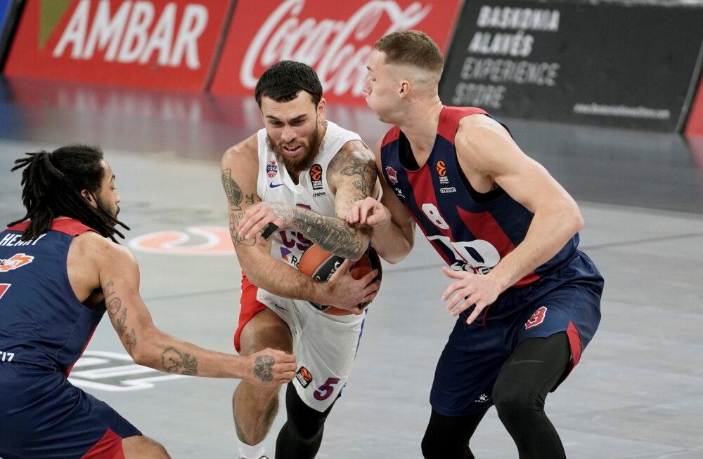 EUROLIIGA BLOGI   Baskonia sai närvilise lõpuga mängus napi võidu ja katkestas CSKA ilusa seeria