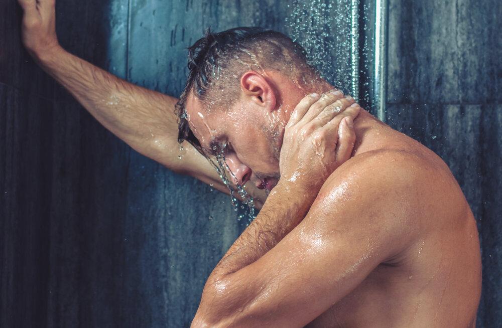 """""""Ta tilkus dušiveest. Kaelas rippus tal käterätik, aga muidu oli ta üleni alasti."""""""