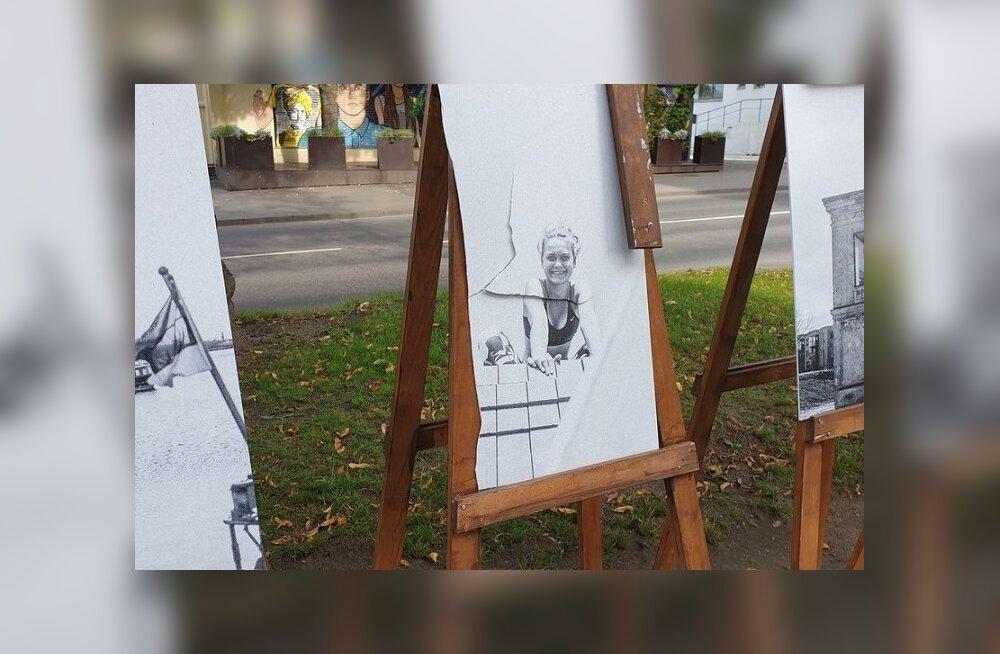 ФОТО: В Пыхья-Таллинне вандалы атакуют уличные фотовыставки