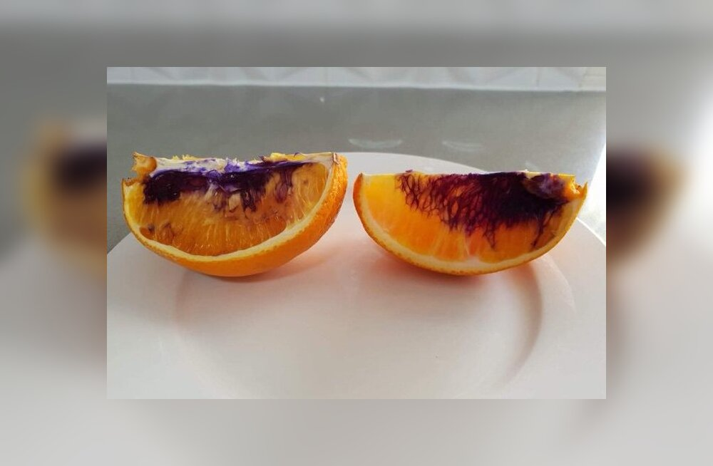 Kummaline nähtus: mõned apelsinid muutuvad öö jooksul lillaks ja keegi ei tea (veel) miks