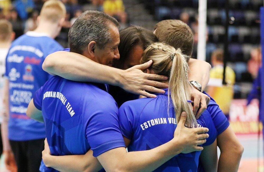 Eesti võrkpallikoondis materdas Cretu 100. juubelimängus Rootsit nagu poksikotti ja jätkab Kuldliigas täiseduga