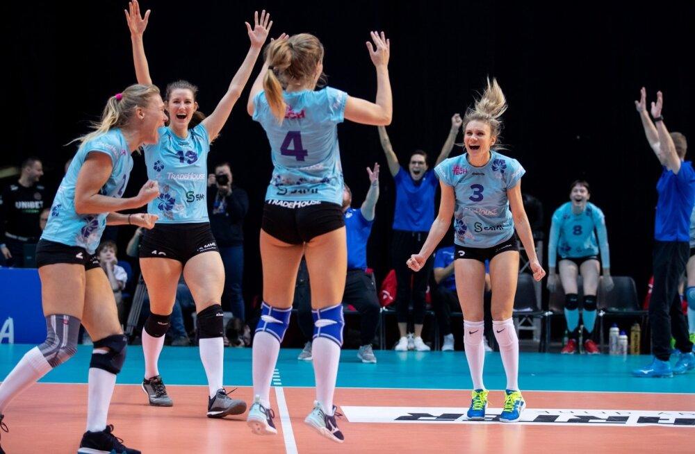 Eesti naiste võrkpalli karikasarja finaal TalTech/Tradehouse ja Tartu Ülikool/Bigbank