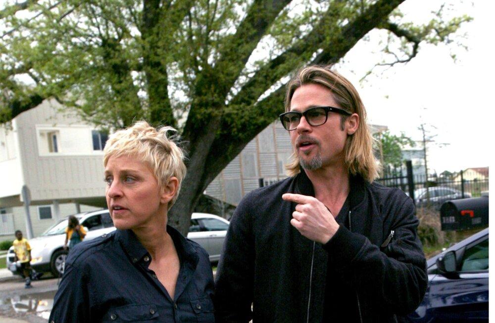 Ellen DeGeneres tunnistas, et on suhtes olnud Brad Pitti endise türduksõbraga