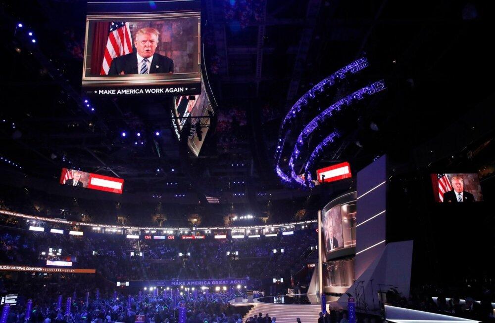 Trump saatis New Yorgist videoläkituse Clevelandis toimuvale vabariiklaste kongressile, kus ta valiti presidendikandidaadiks ja kuhu ta täna saabub nominatsiooni ametlikult vastu võtma.