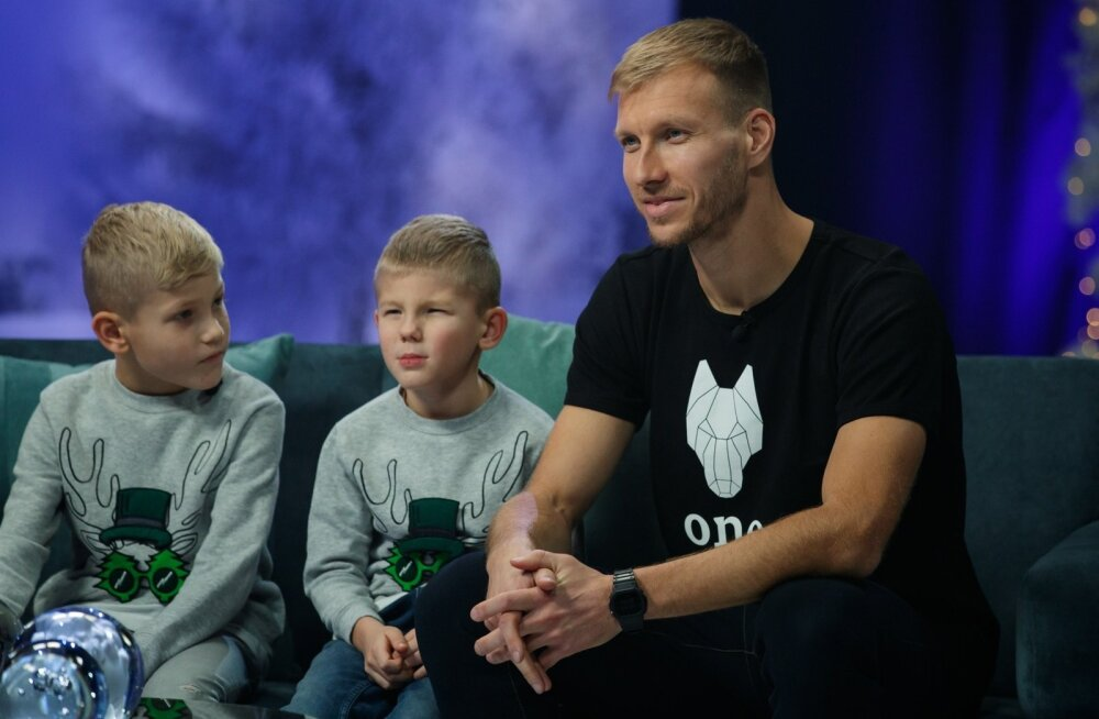Jõulutunnel ja Ragnar Klavan perega