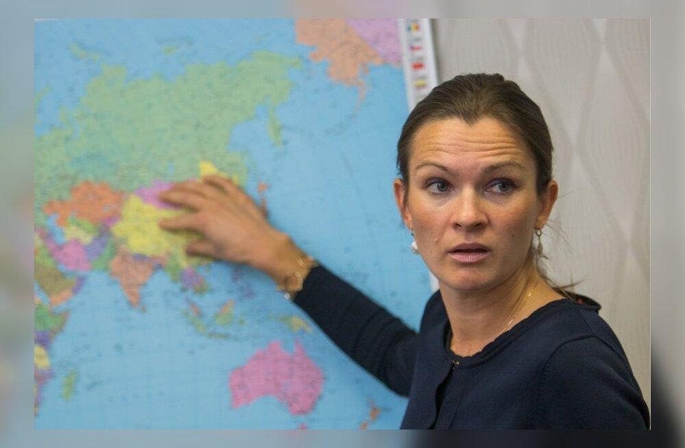 Väliskaubandus- ja ettevõtlusminister Anne Sulling.