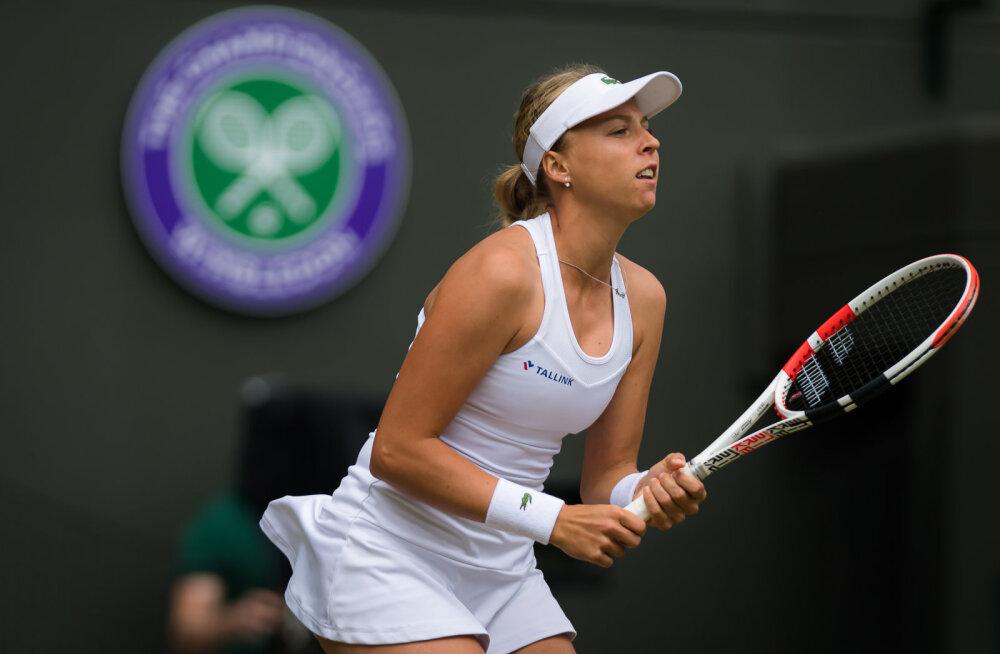 Kontaveit langes paarismängus Wimbledoni turniirilt välja