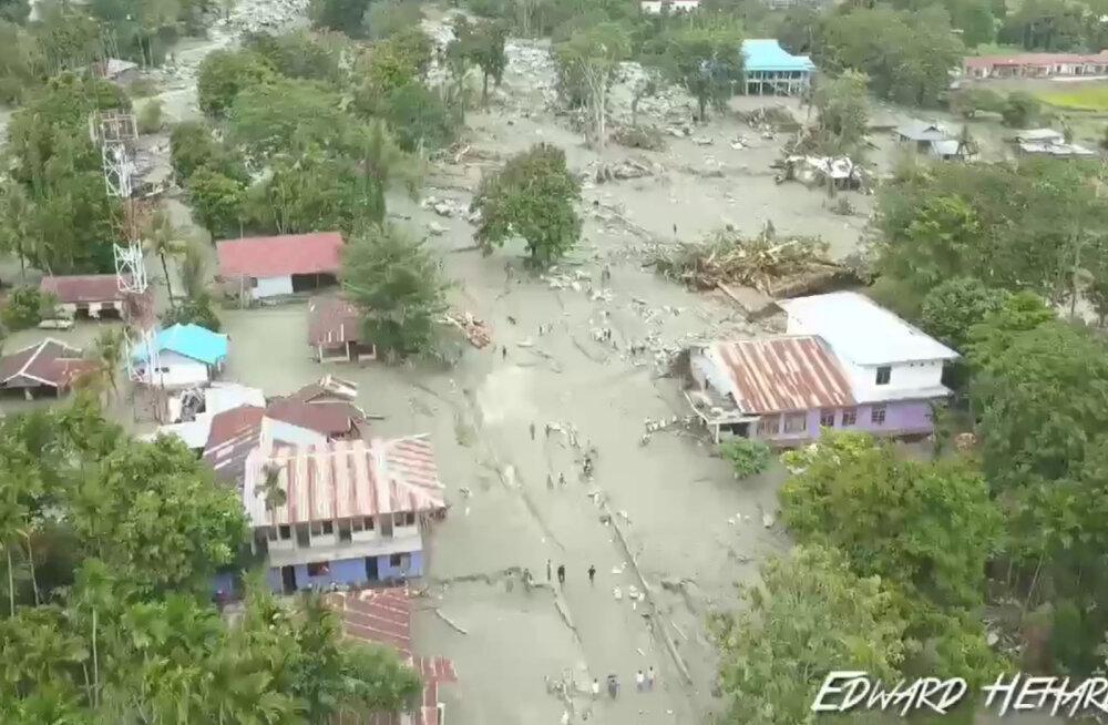 Indoneesia Papua provintsis hukkus tulvavee tõttu ligi 60 inimest