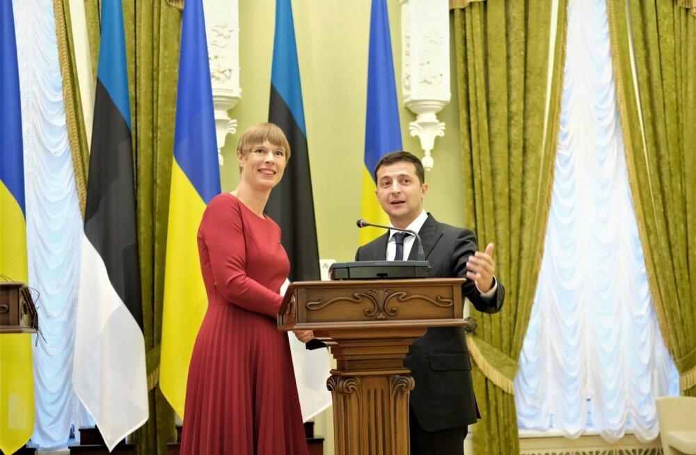 Kersti Kaljulaid ja Volodõmõr Zelenskõoi