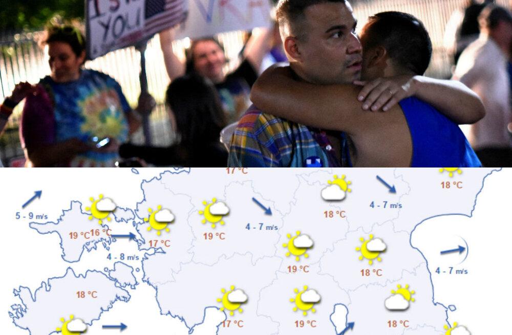 HOMMIKU-UUDISED: alanud nädal toob kuni 23 soojakraadi, öösel toimus mitmel pool USAs Orlando massitulistamise ohvrite mälestamine