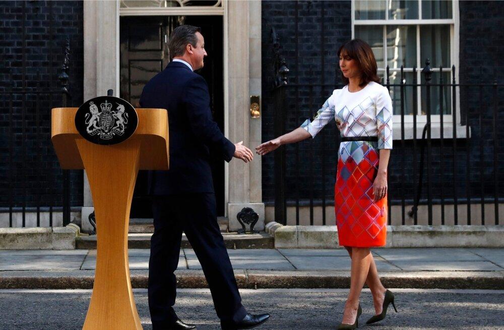 Britid keerasid Euroopa Liidule selja. Peaminister David Cameron ja tema abikaasa Samantha eile hommikul pärast referendumi tulemuste teadasaamist
