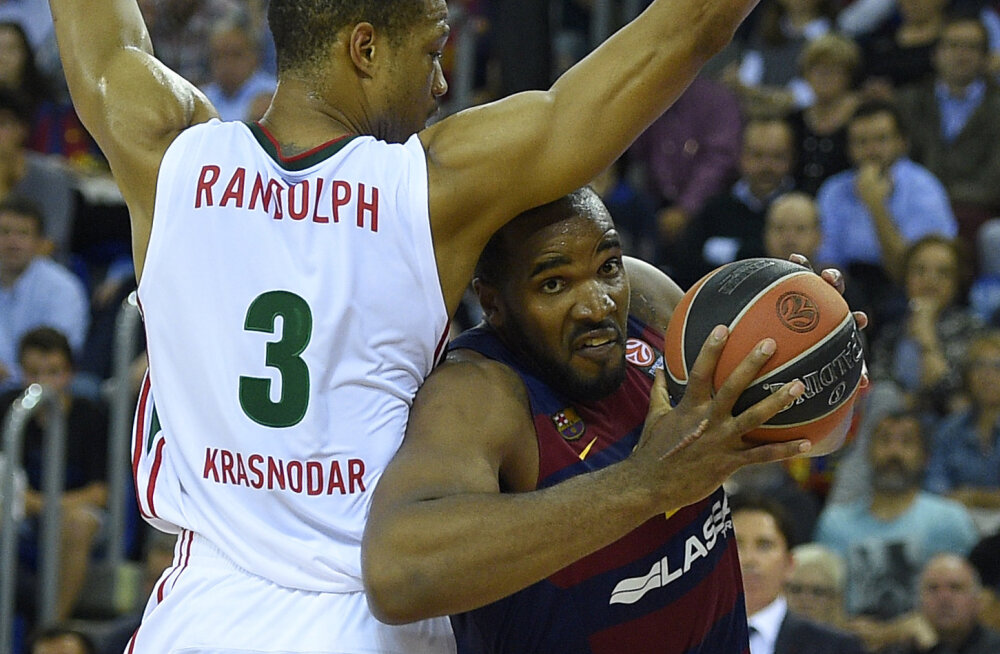 Anthony Randolph (Lokomotiv) ja Samardo Samuels (Barcelona)