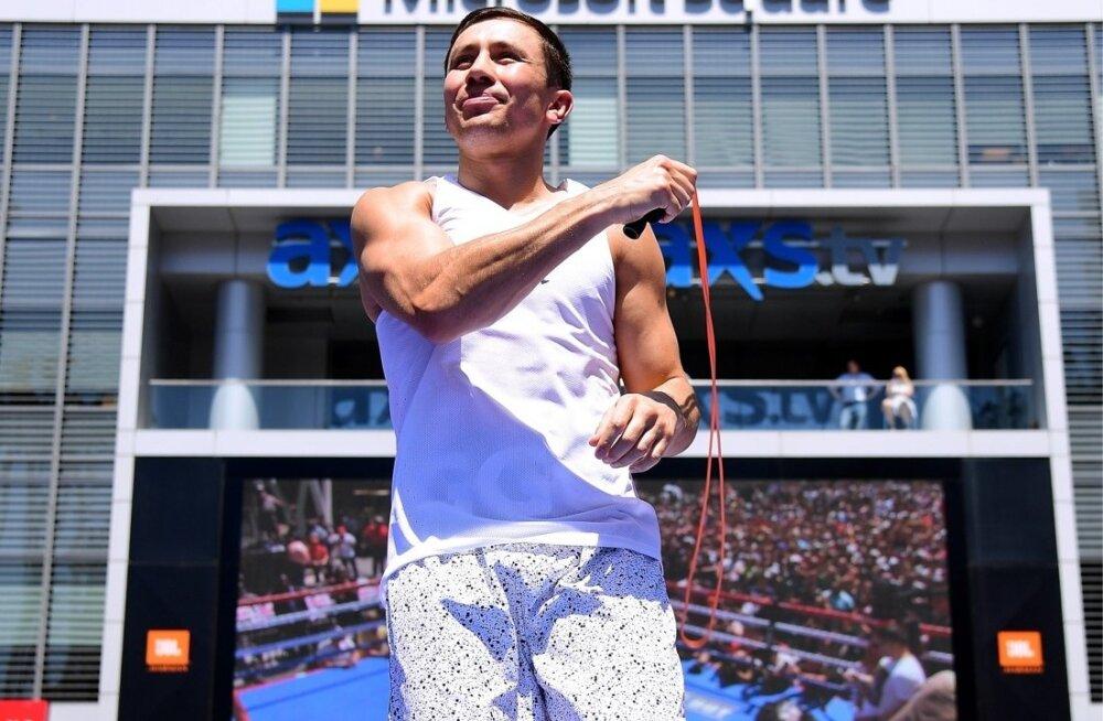 Kasahstani äss Gennadi Golovkin jõudis 35-aastaselt oma karjääri suurima matšini.