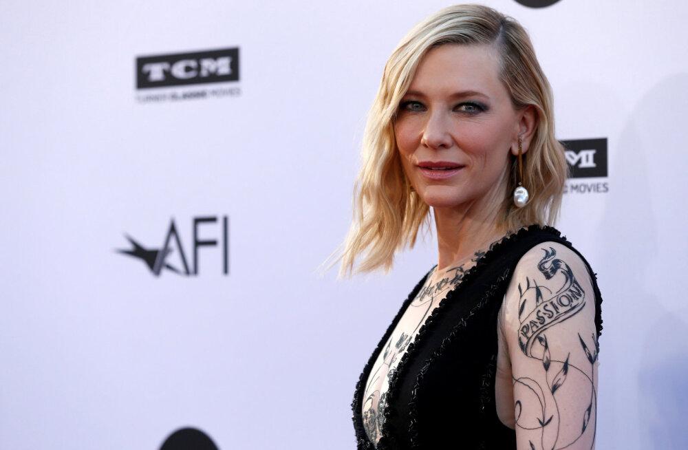 Austraalia näitleja Cate Blanchett vigastas mootorsaega töötades enda pead