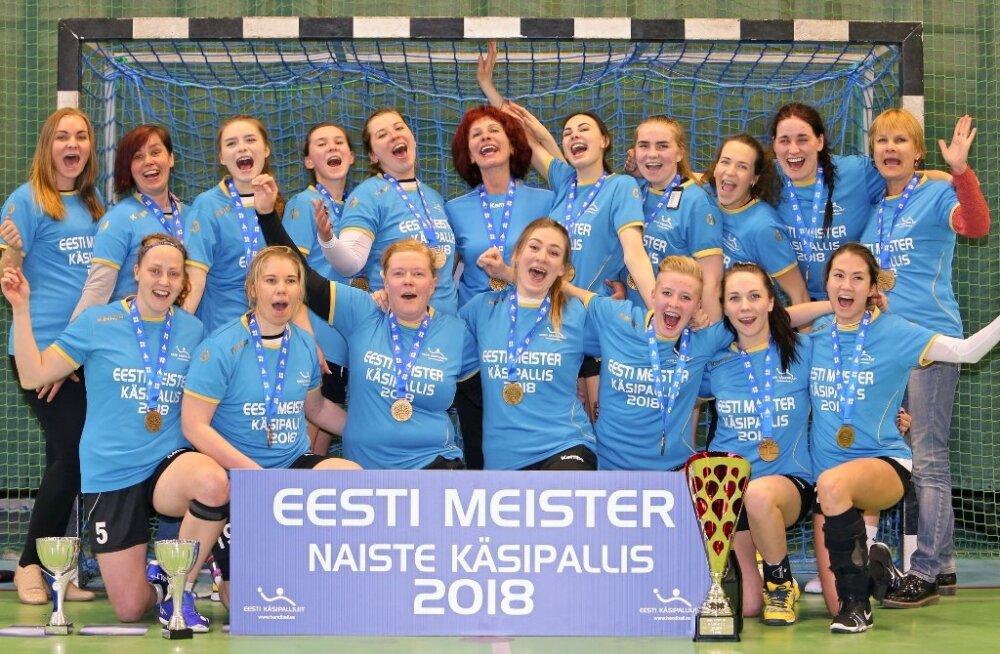 e15f9254fa1 Eesti naiste käsipallimeistriks tuli Reval-Sport/Padise - Sport