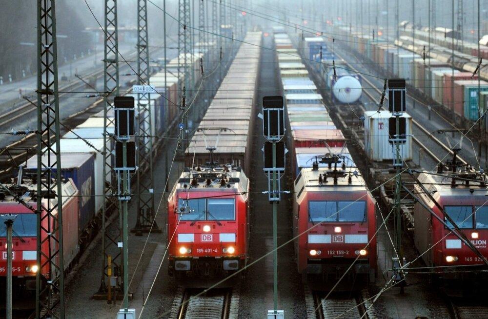 Kaubarongid Saksamaal Mascheni kaubajaamas