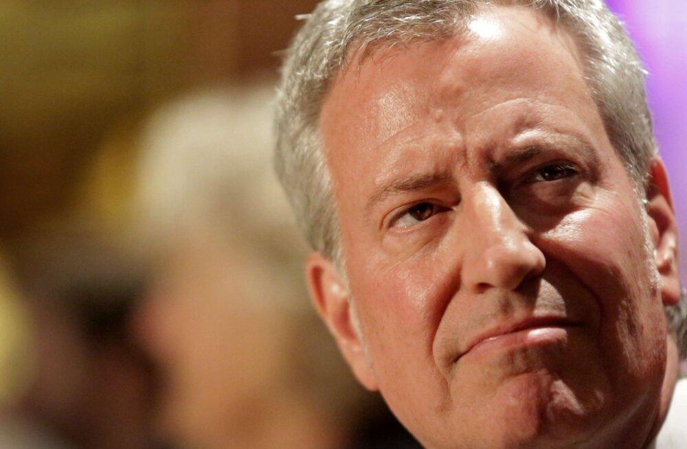 New Yorgi linnapea Bill de Blasio teatas demokraatide presidendikandidaadiks pürgimisest