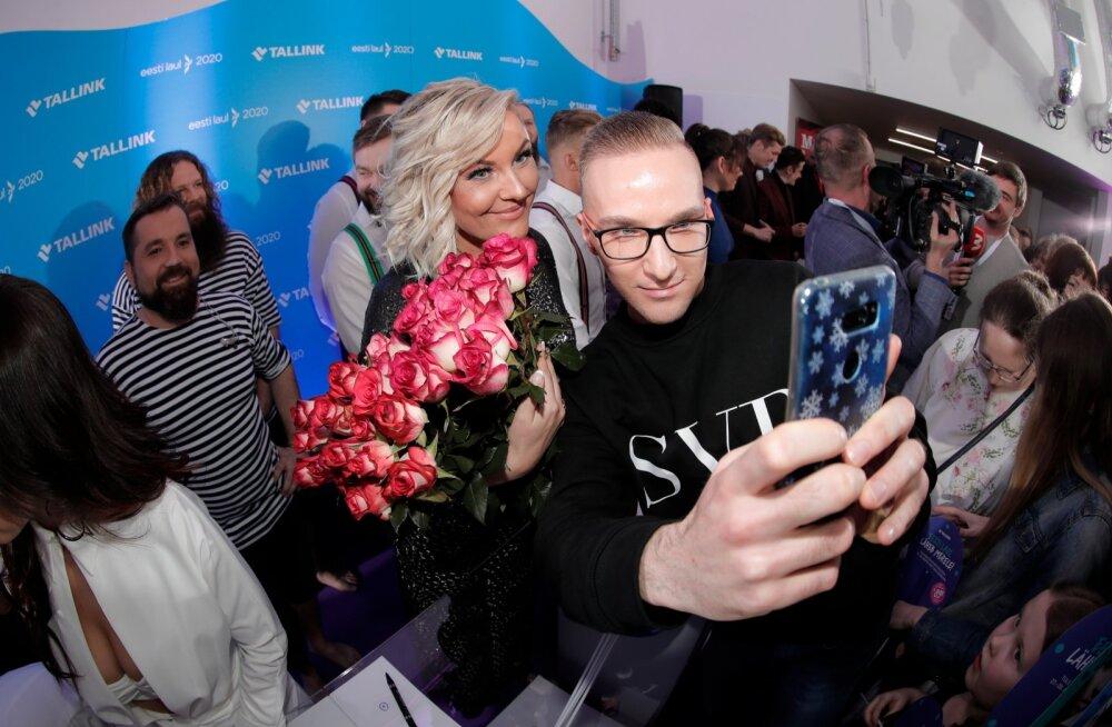FOTOD   Tuntud näod ja meeletult fänne! Vaata, kes saabusid Eesti Laulu esimest poolfinaali Tartusse vaatama