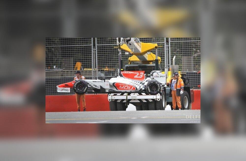 HRT meeskonna autod Melbourne'i vormel-1 etapil starti ei pääse