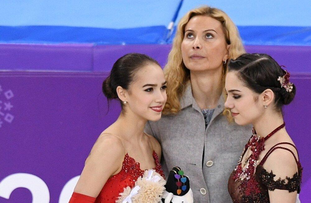Alina Zagitova, Eteri Tutberidze ja Evgenia Medvedeva