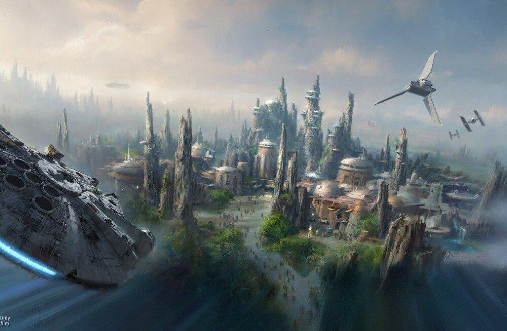 Kosmoselend tuuakse maa peale: Disney plaanib ehitada kaks hiiglaslikku Tähesõdade teemaparki